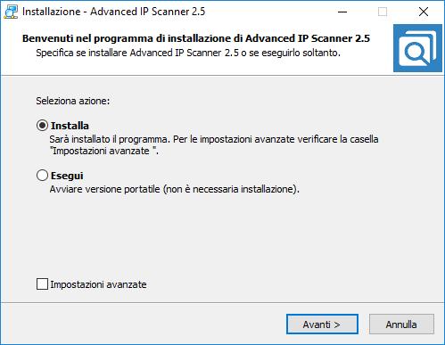 Advanced Ip Scanner - Installa