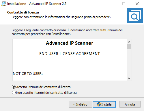 Advanced Ip Scanner - Licenza