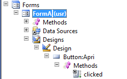 Aprire una form - Button