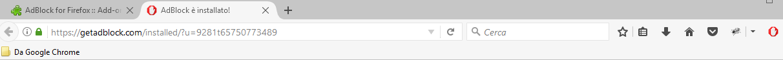 AdBlock - Firefox Barra degli indirizzi