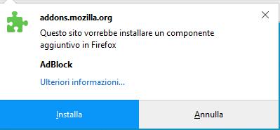AdBlock - Installa su Firefox
