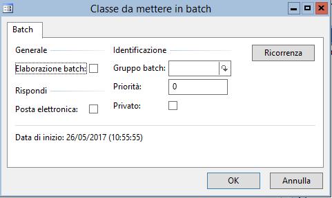 Creare un Batch - Batch