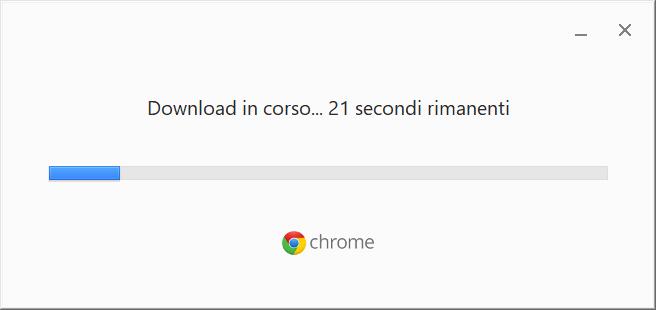 Installare Google Chrome - Download in Corso