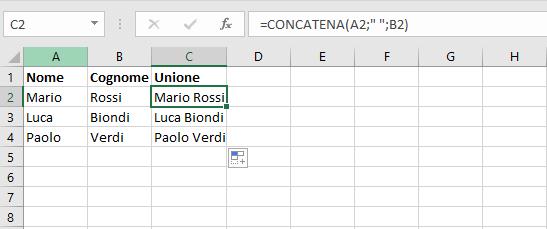 Concatena - Esempio 3