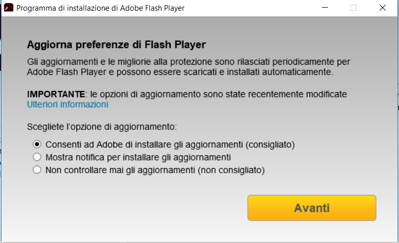 Come installare Adobe Flash Player - Preferenze