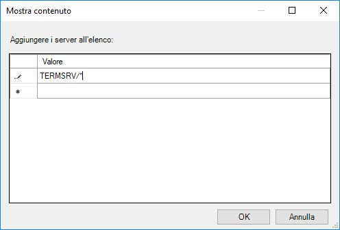 Salvare le credenziali in Windows 10 - Mostra contenuto