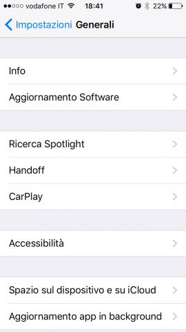 aggiornamenti iPhone - Generali