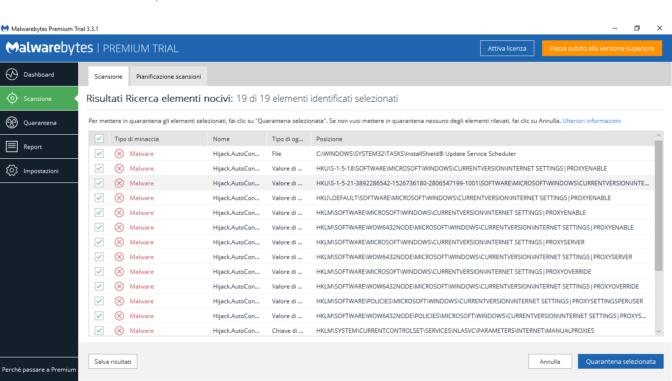 Rimuovere le impostazioni Proxy - Rimozione Malware