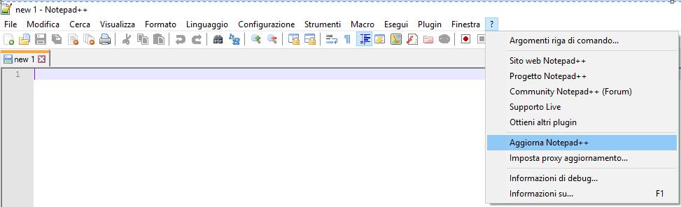 aggiornare Notepad - Aggiorna Notepad++