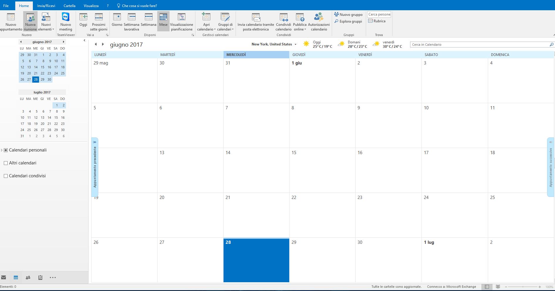 Creare un appuntamento - Calendario