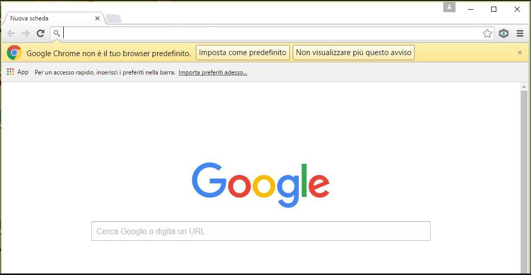Chrome - Imposta come predefinito