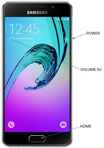 Samsung A3 - button