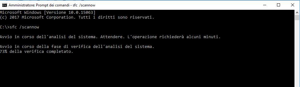 Menu Start di Windows 10 - Prompt dei comandi