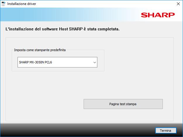 Sharp Mx3050N - Installazione Terminata