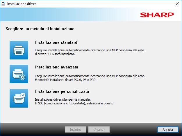 Sharp Mx3050N - Tipo di Installazione