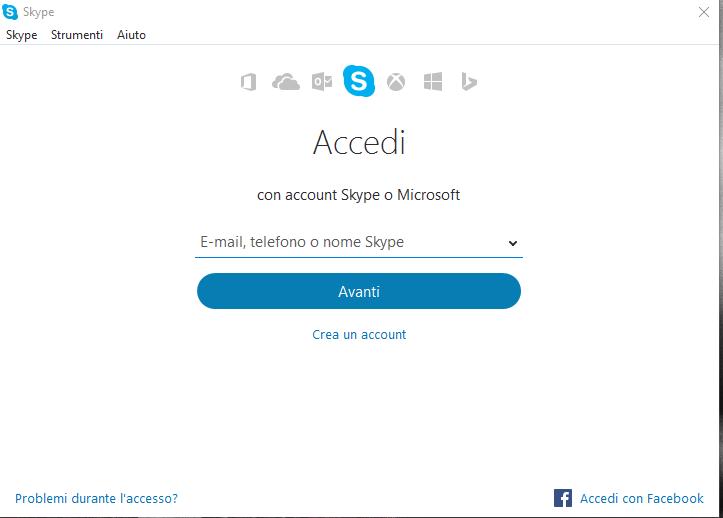 Skype - Accesso