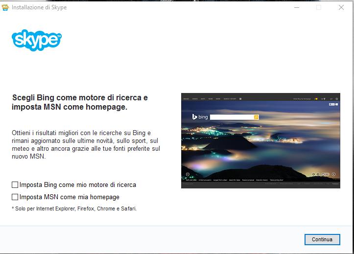 Skype - Installazione Passo 2
