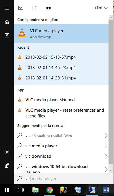 Aggiornare VLC - Start