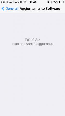 aggiornamenti iPhone - Software aggiornato