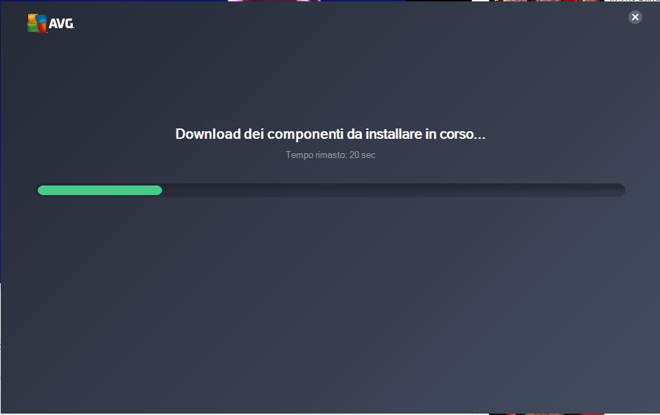 AVG Free - Download dei componenti