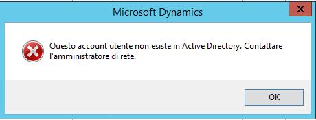 Creare un utente - Active Directory problem
