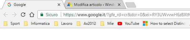 importare i preferiti su Chrome - Preferiti Importati