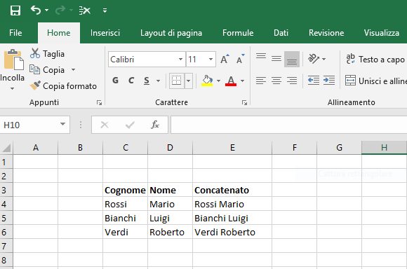 Salvare un file di excel in pdf - File Excel