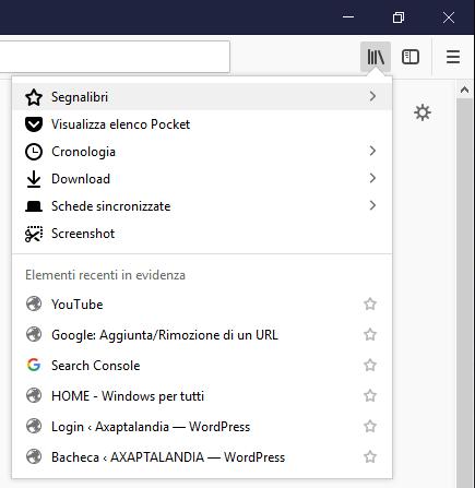 Importare i preferiti su Firefox - Segnalibri