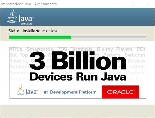 Come aggiornare Java - Installazione