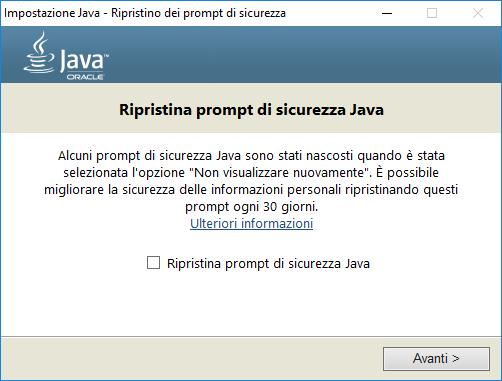 Come aggiornare Java - Sicurezza Java