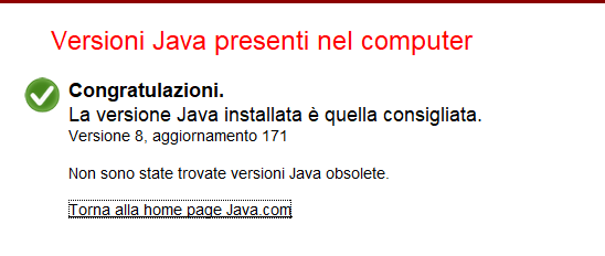 Come aggiornare Java - Versione Aggiornata