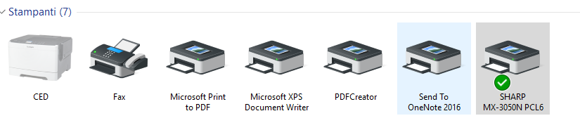 Stampante Predefinita - Dispositi e stampanti