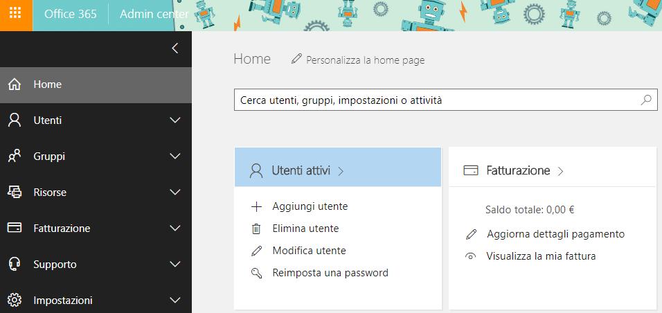 Creare un utente in Office 365 - Utenti attivi
