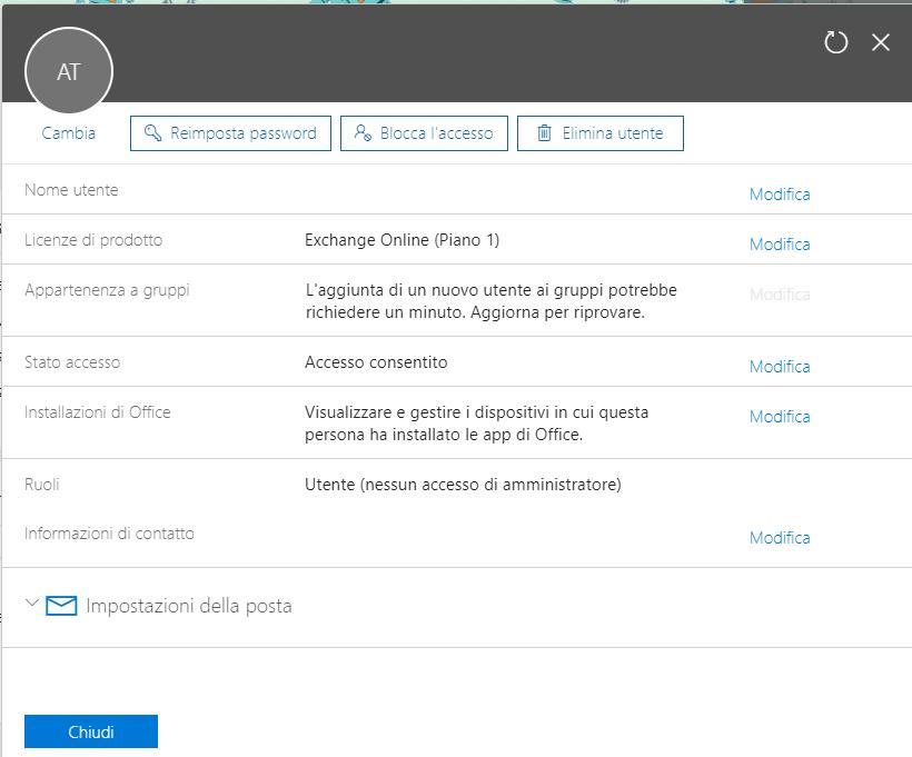 Cambiare la password di Office 365 - Cambia Password