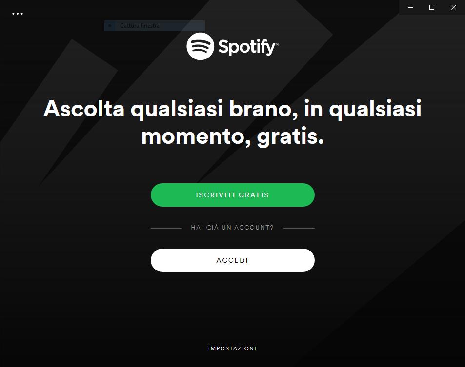 Installare Spotify - Accedi o Iscriviti