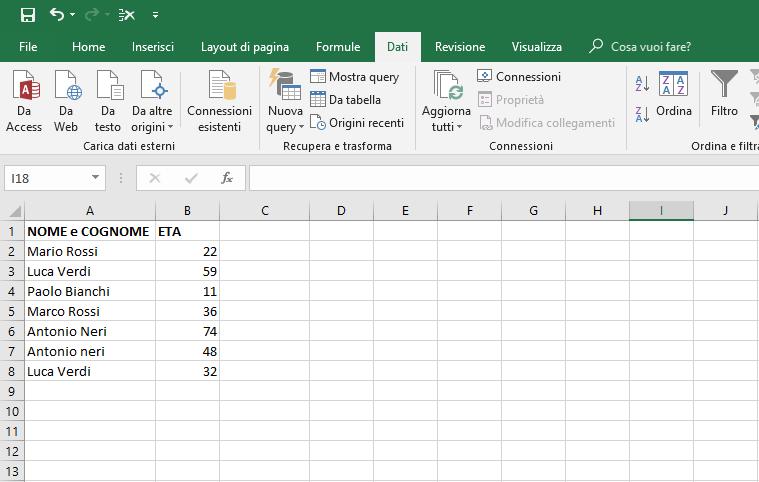Rimuovere Duplicati in Excel - Foglio pulito