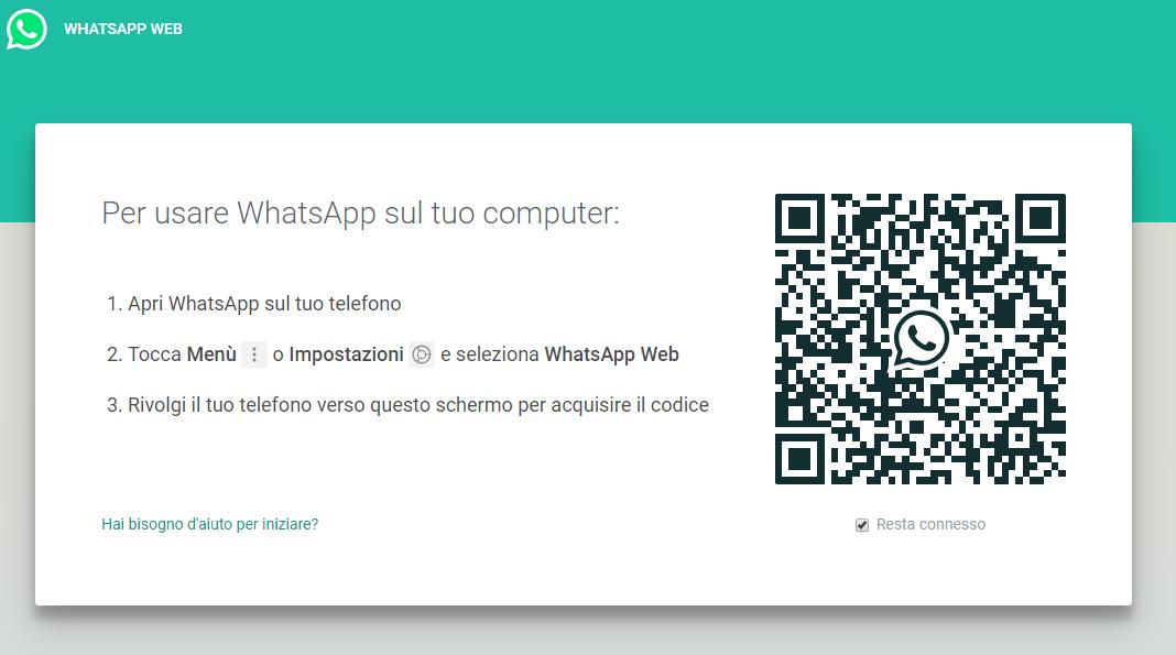 WhatsApp Web - Codice QR