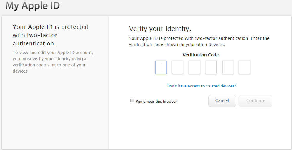 iOS 12 - Verify your identity