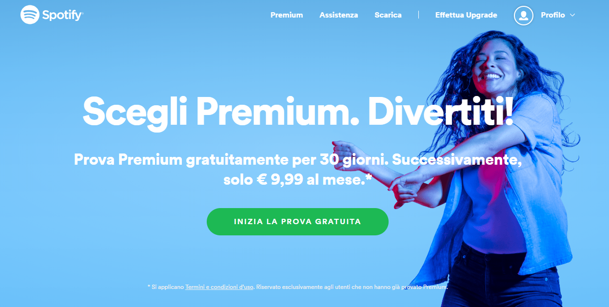 Attivare Spotify Premium - Prova Gratuita