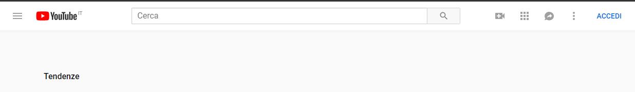 Cancellare la cronologia di Youtube - Accedi