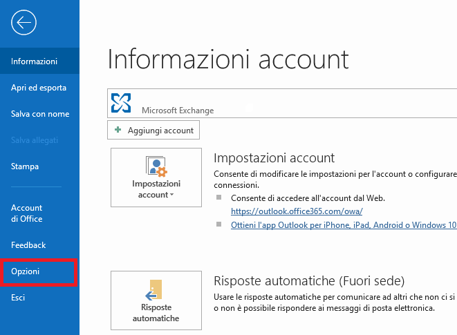 Sistemare data e ora sbagliata in outlook - Informazioni Account