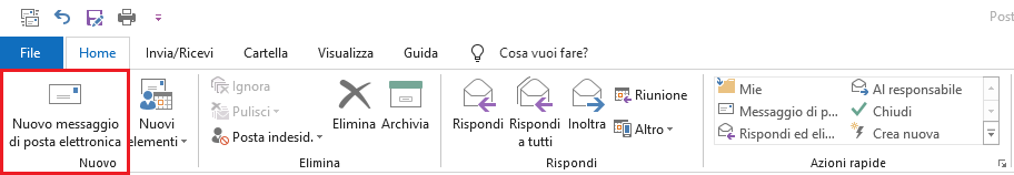Nuovo Messaggio di posta elettronica