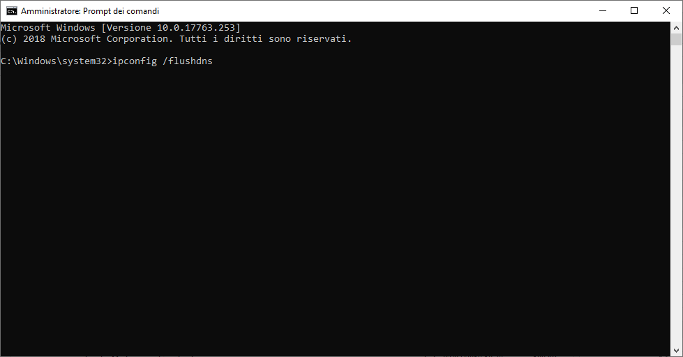 Come svuotare la Cache DNS - comando