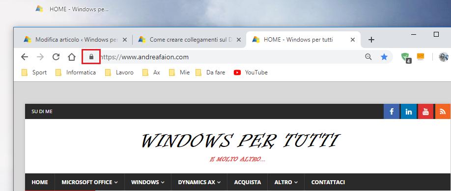collegamenti sul Desktop - Link