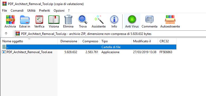 PDF Architect Removal Tool - Estrai eseguibile