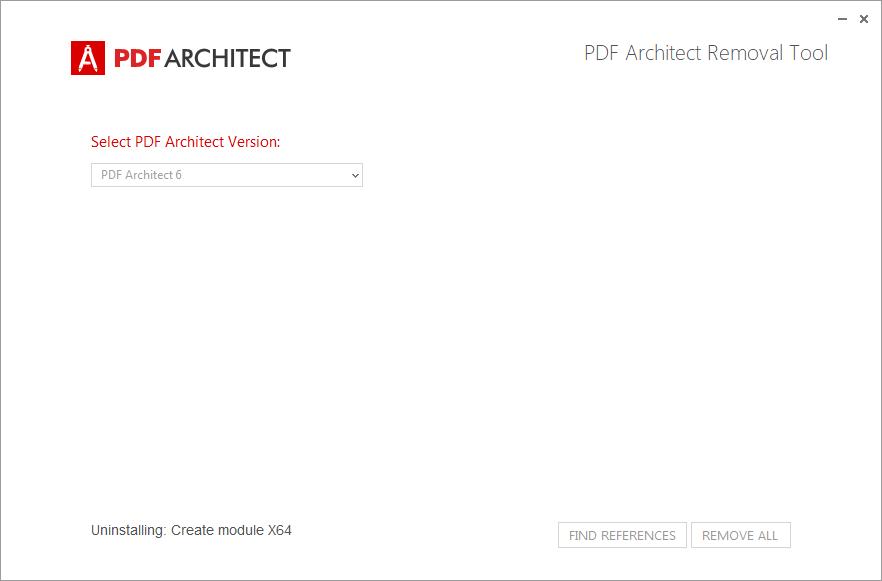 PDF Architect Removal Tool - Rimozione in corso