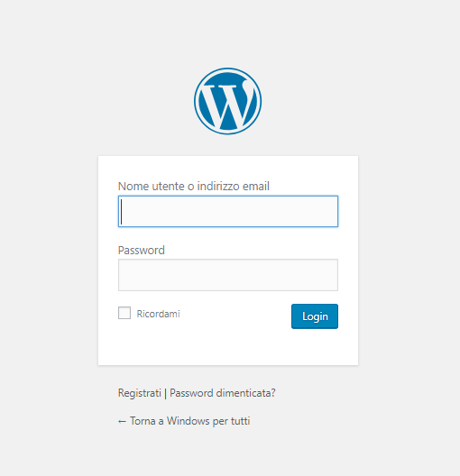 Aggiornare un Plugin di WordPress - Login