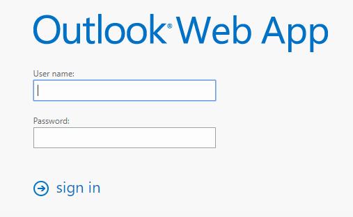 Accesso Outlook Web App