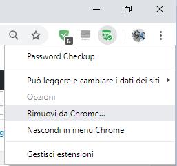 Rimuovi Password Checkup