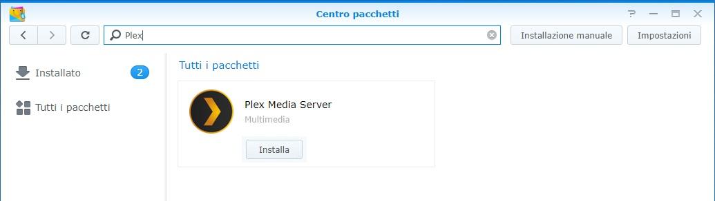 Come installare Plex - Centro Pacchetti